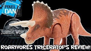 Jurassic World Triceratops Roarivores Fallen Kingdom Mattel Figure Video Review