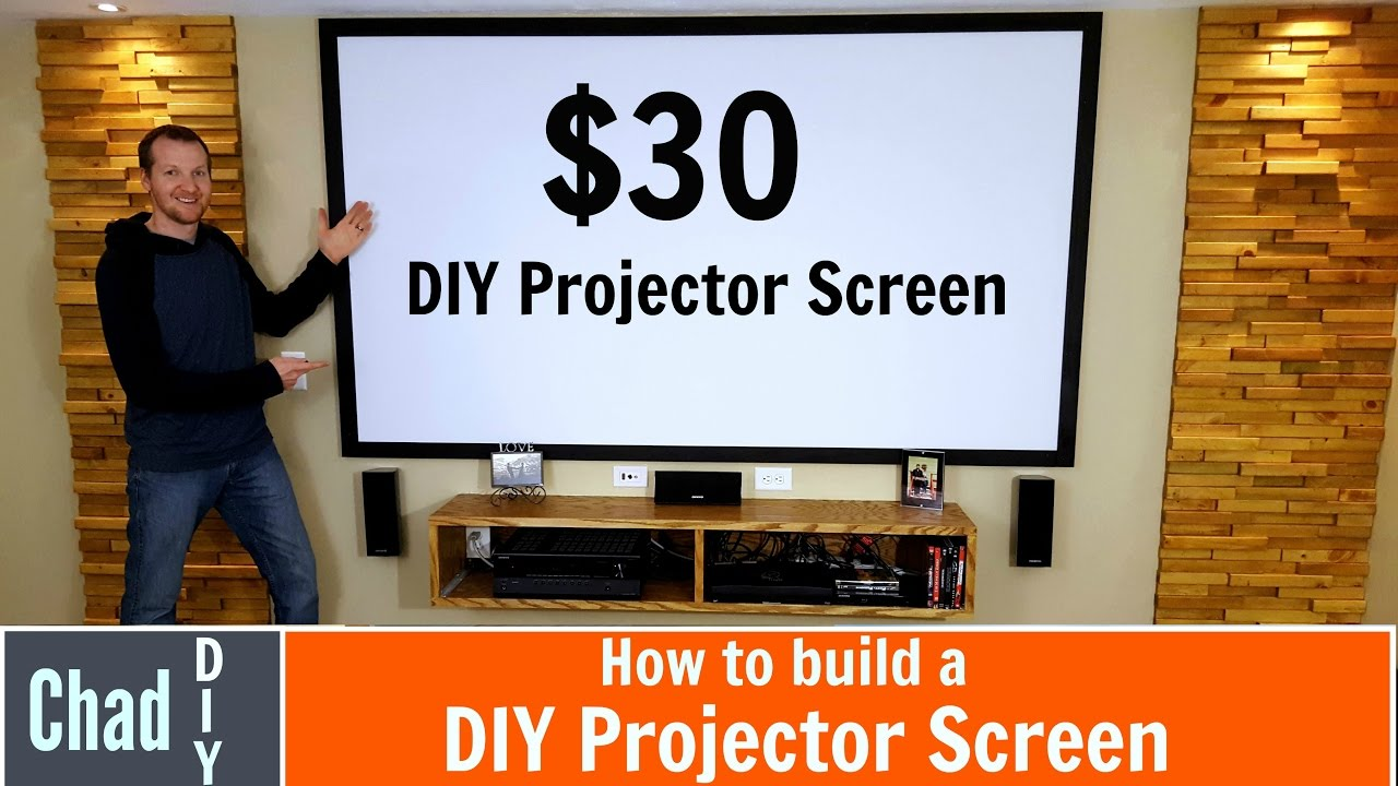 How To Build A 30 Projector Screen