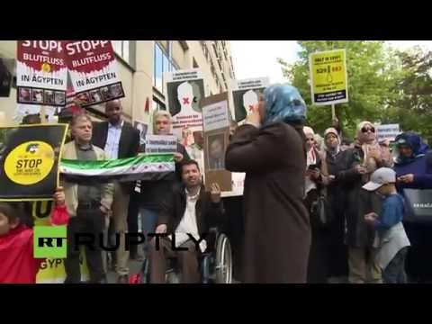 LIVE: Berlin protest calls for release of detained Al Jazeera journalist Ahmed Mansour