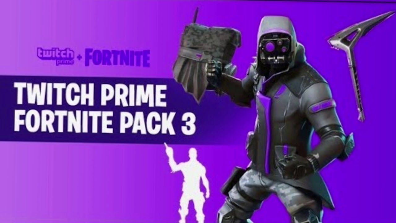 New Fortnite Skin Twitch Prime 3 Free Leaked Youtube