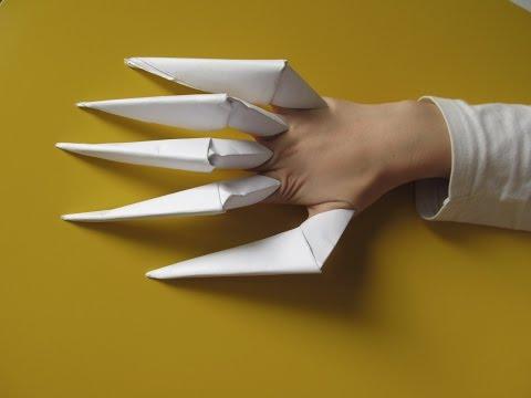 Ногти оригами из бумаги