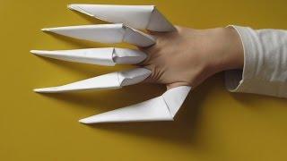 Легкое оригами на хэллоуин. Когти