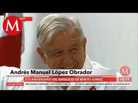 AMLO celebra natalicio de Benito Juárez