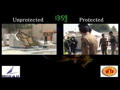 Saudi Civil Defense Tent Demo 2014