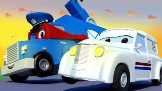 СУПЕР ПОЧТОВЫЙ Грузовик - Трансформер Карл в Автомобильный Город 🚚 ⍟ детский мультфильм