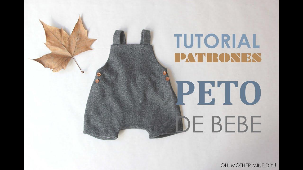DIY Patrones Peto de Bebé (tutorial paso a paso) - YouTube
