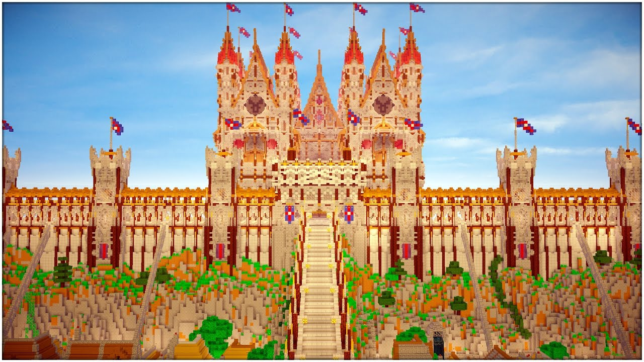 Image result for a kingdom made in minecraft