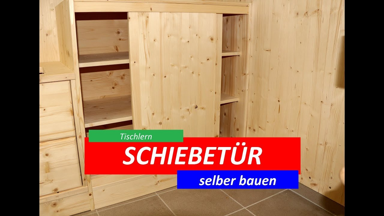 schiebet ren selber bauen und montieren youtube. Black Bedroom Furniture Sets. Home Design Ideas