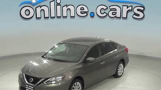 G99041TR Used 2016 Nissan Sentra SV FWD 4D Sedan Gray Test Drive, Review, For Sale