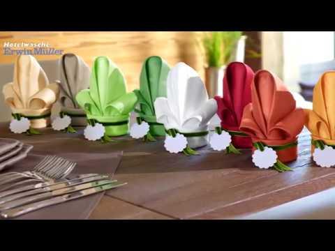 servietten falten lilie textile fr hlingsgef hle. Black Bedroom Furniture Sets. Home Design Ideas