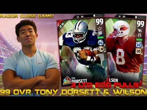 99 OVR EASTER LEGENDS TONY DORSETT & LARRY WILSON! MADDEN 17 ULTIMATE TEAM