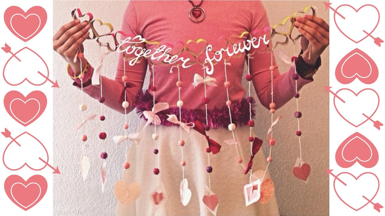 diy valentines decorations at your door youtube
