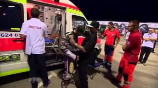 Greg Hankock and Niels Kristian Iversen CRASH. Heat 14. FIM Speedway Grand Prix Poland 30.08.2014.