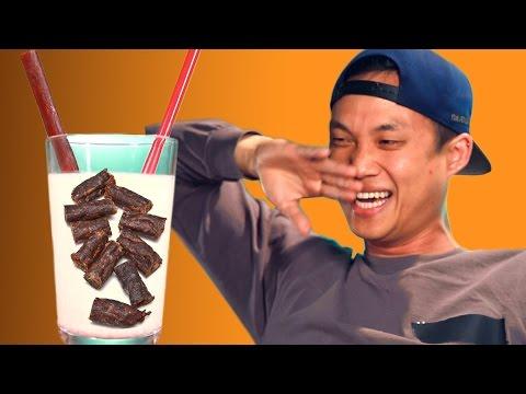 Slim Jim Milkshake Taste Test