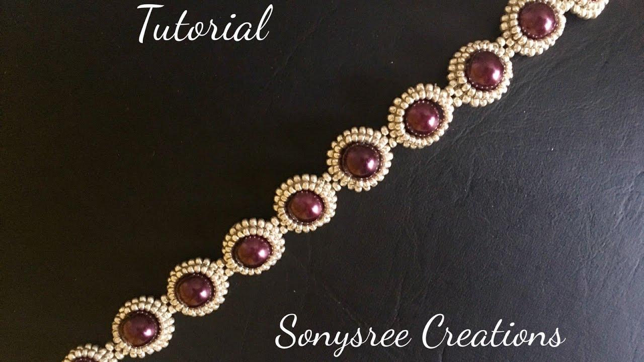 Diy Pearl Beaded Bracelet Simple And Elegant Square