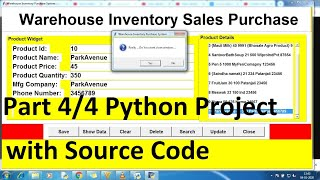 python projects for beginners with source code using Database | Python project | Python CRUD part 4
