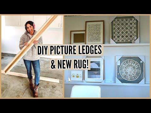 DIY PICTURE LEDGES & NEW WEST ELM RUG!