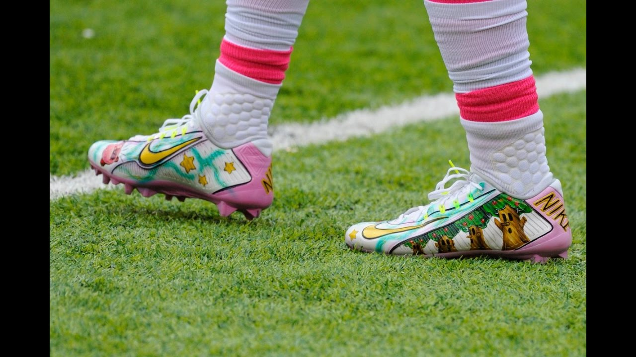 Odell Beckham Jr Wears Kirby Cleats During Game - YouTube