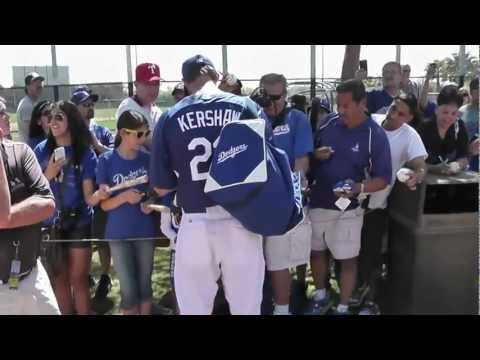Clayton Kershaw Signing Autographs at Camelback Ranch-Dodgers Spring Training 2012, March 16