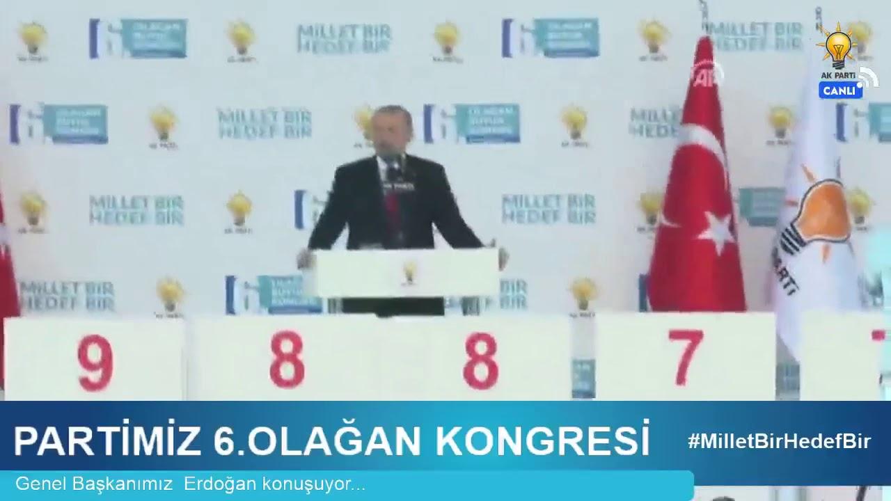 Genel Başkanımız Erdoğan, Partimiz 6. Olağan Kongresi'nde teşekkür konuşması yaptı