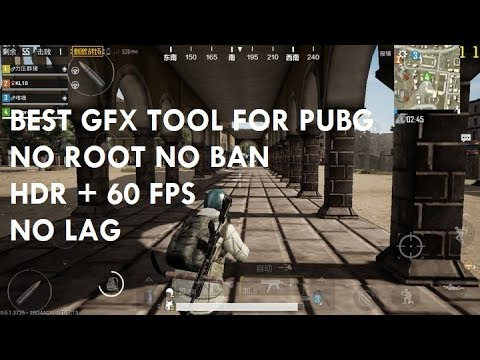 HOW TO INCREASE GRAPHICS ON PUBG MOBILE BEST GFX TOOL FOR PUBG (NO ROOT /NO  BAN)/ HDR + 60FPS