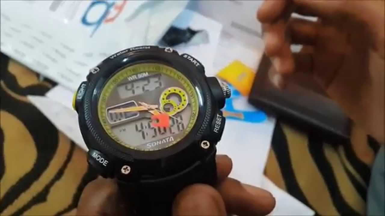 titan sonata super fibre ocean series analog digital watch un boxing rh youtube com sonata superfibre digital watch user manual