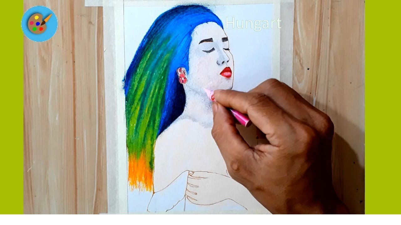 Cách vẽ tranh bằng sáp dầu cho người mới bắc đầu – Oil Pastel Drawing for Beginners