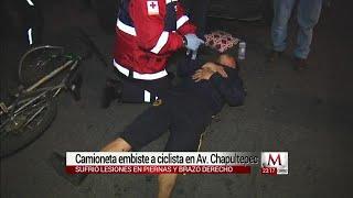 Atropellan a un ciclista en la colonia centro de la CdMx