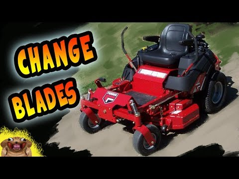 How to Change the Blades on a Zero Turn Mower (Ferris IS 1500Z)