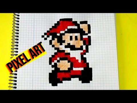 How To Draw Super Mario Papa Noel Pixel Art