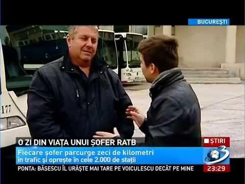 EXPERIMENT Antena 3: O zi din viaţa unui şofer RATB