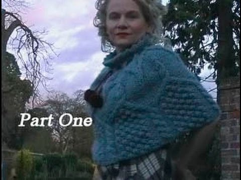 How To Knit An Aran Capelet Or Poncho Free Cabled Poncho Knitting