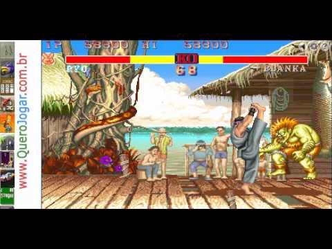 Street Fighter, jogo igual ao do fliperama - YouTube