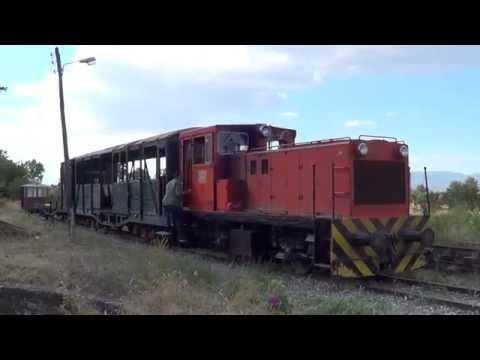 Greek museum trains, Nippon Sharyo locomotive at Velestino station