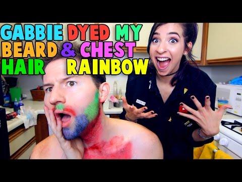 THE GABBIE SHOW DYED MY BEARD & CHEST HAIR RAINBOW
