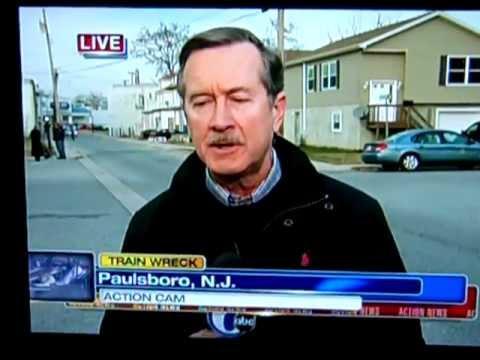 TRAIN DERAILMENT NEWS FOOTAGE FROM PAULSBORO NJ