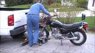 Motorcycle tow device