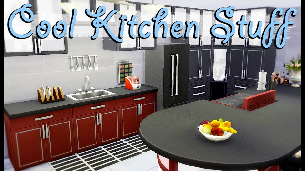 Cool Kitchen Stuff Speed Build The Sims 4 Youtube