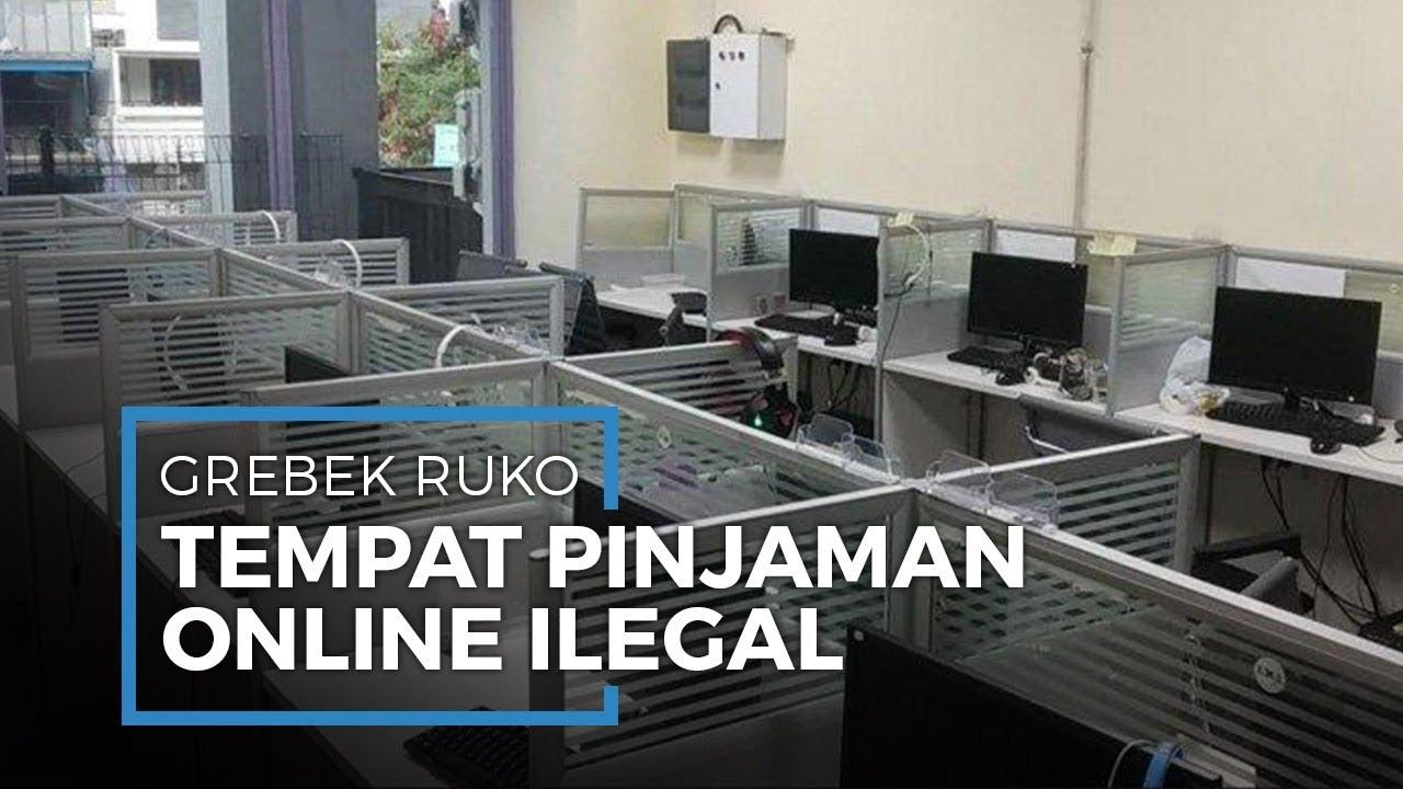 Video Detik Detik Penggerebekan Ruko Pinjaman Online Ilegal Di