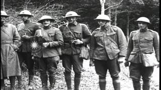 US 5th  and 6th Marine Regiment leave the trenches at Montreuil and depart for re...HD Stock Footage
