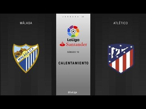Calentamiento Málaga vs Atlético