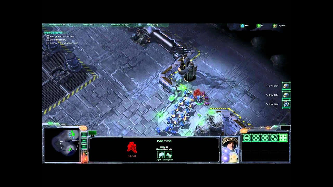 Starcraft 1 campaign in Starcraft 2: Terran Mission 0 Boot ...