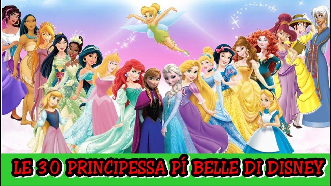 Le 30 Principessa Più Belle Di Disney Youtube
