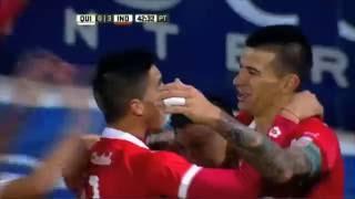 Gol de Cuesta. Quilmes 0 - Independiente 3. Fecha 16. Primera División 2016.
