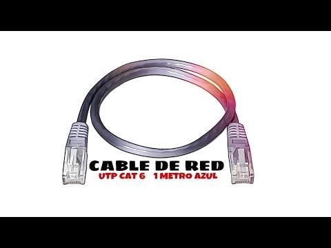 Video de Cable de red UTP CAT6 1 M Azul