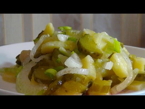 Супер вкусный картофельный салат.  (Постное блюдо~)Potato salad