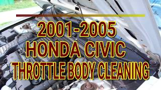 2001-2005 Honda Civic Throttle Body Cleaning