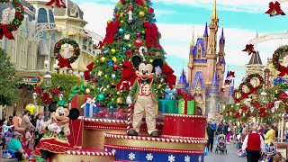 Magic Kingdom 2020 Complete Christmas Experience in 4K | Walt Disney World Orlando Florida