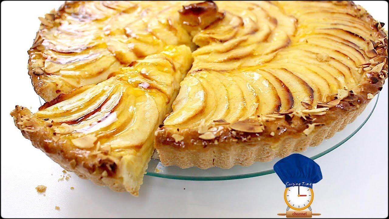 Moule A Tartelette Professionnel tarte aux pommes creme patissiere // cuisine time fr