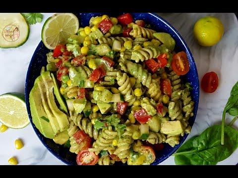 Instant Pot Creamy Italian Avocado Pasta Salad |How To Make Vegan Pasta Salad & Avocado Dressing